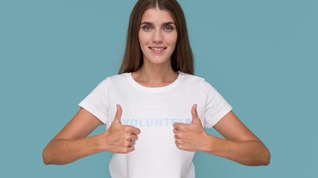 Portrait of humanitarian volunteer