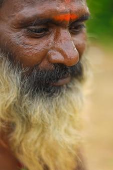 Portrait of indian sadhu