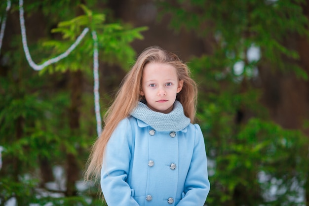 Portrait of little adorable girl