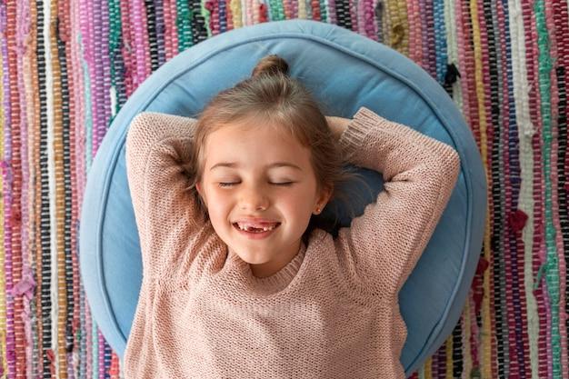 Portrait little girl smiling