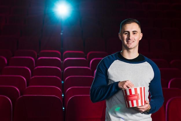 Portrait of man in cinema