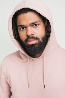 Portrait of a man in asweatshirt