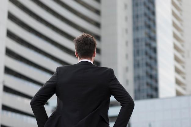 Portrait man wearing suit