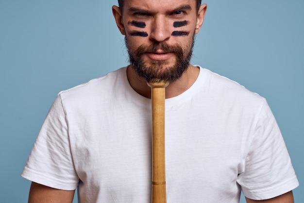 Portrait man with baseball bat