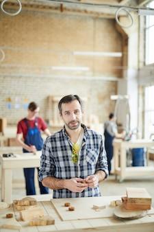 Portrait of mature carpenter