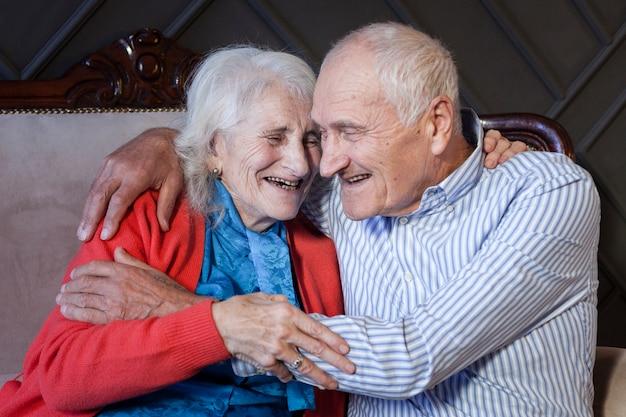 Portrait of mature couple in love
