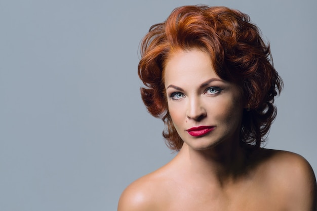 Portrait of mature redhaired woman
