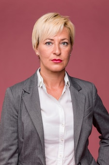 Portrait of middle aged businesswoman