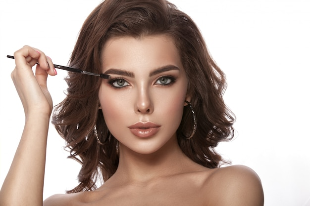 Portrait of model with natural make-up