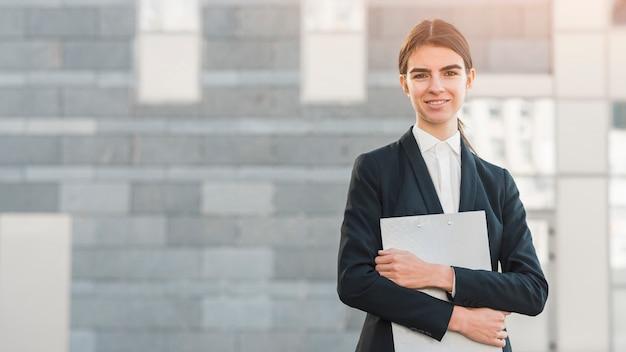 Portrait of modern businesswoman