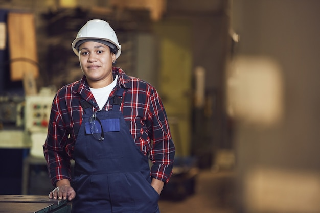 Portrait of modern mixed-race worker