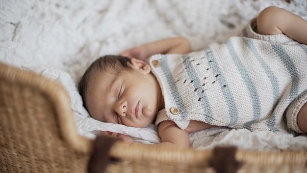 Portrait of new born sleeping