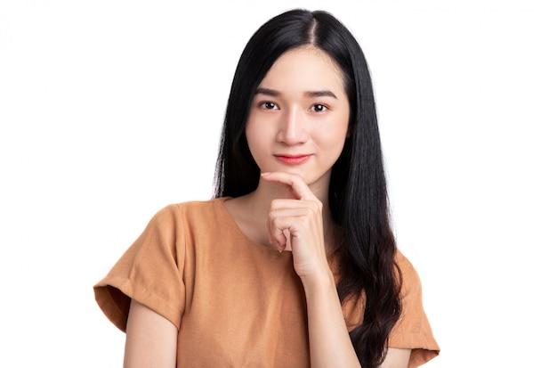 美しい若いアジアの女性の肖像画