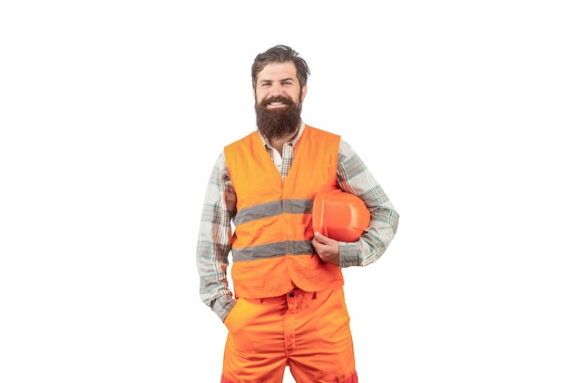 웃 고 작성기의 초상화입니다. 제복을 입은 노동자.