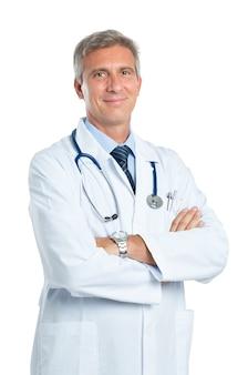 自信を持って成熟した医師の肖像画