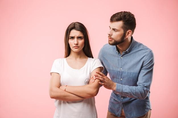 Портрет разочарованной молодой пары