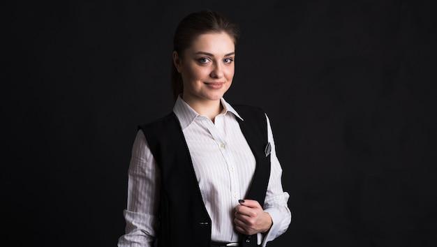 여성 비즈니스 아가씨의 초상