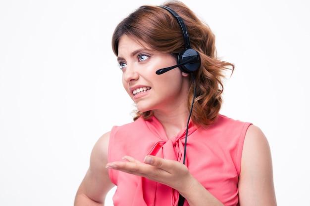 여성 고객 연산자의 초상화