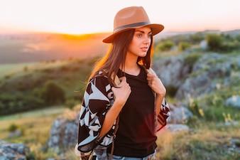 Portrait of a female hiker