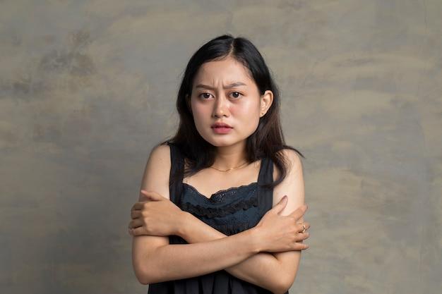 凍てつくアジアの女性の肖像画