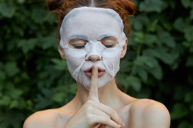 女の子のポートレートアンチリンクルマスク