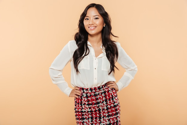Портрет счастливой азиатской женщины