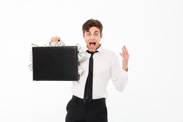 Портрет счастливого довольного бизнесмена