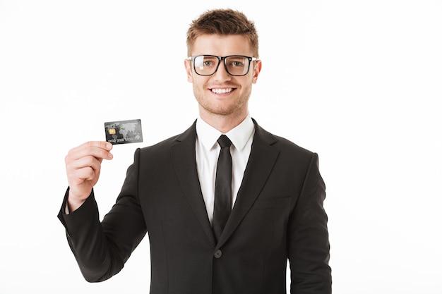幸せな青年実業家の肖像画