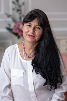 Портрет мексиканской матери в день матери