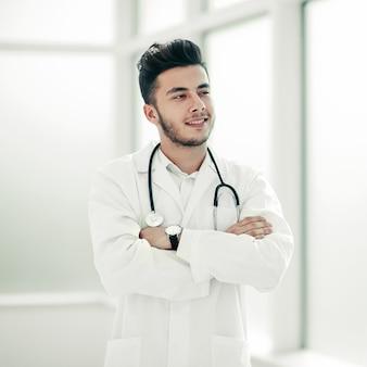 의사 치료사의 초상화