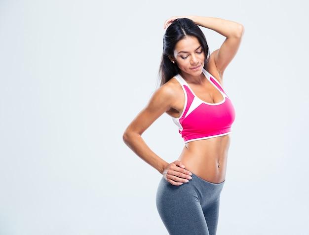 Портрет красивой спортивной женщины