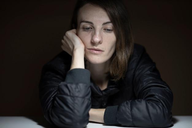 悲しい女性の肖像