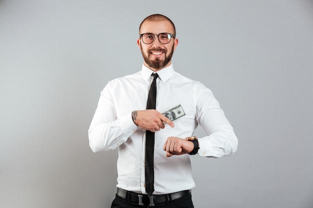 笑顔のビジネスマンの肖像画