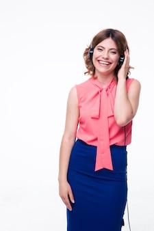Портрет улыбающейся женщины обслуживания клиентов