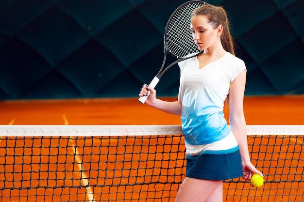 Портрет женщины профессиональный теннисист