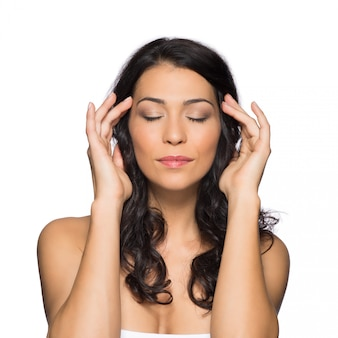 瞑想する女性の肖像