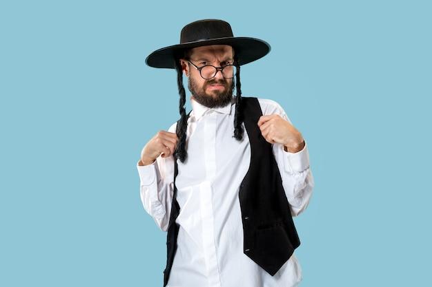若い正統派ハスディムユダヤ人の肖像画