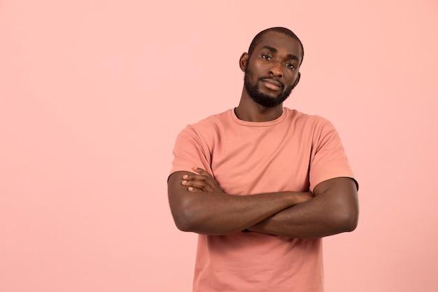 아프리카계 미국인 모델의 초상화