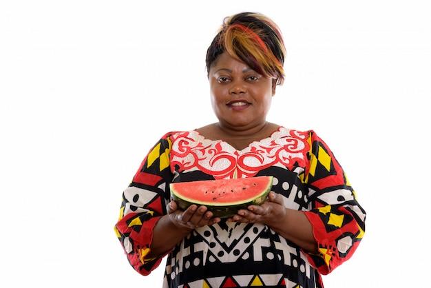 分離されたアフリカの女性の肖像画