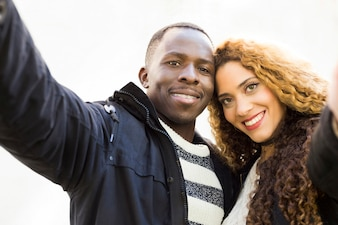 Portrait of afro american couple