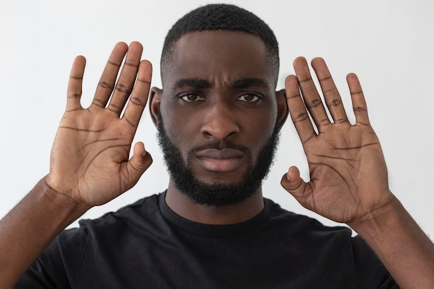 미국 흑인 사람의 초상화
