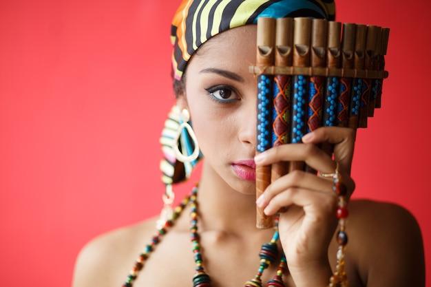 아프리카 여자의 초상화입니다.