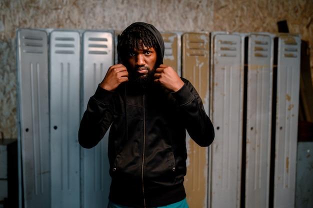 アフリカ系アメリカ人の運動選手の肖像