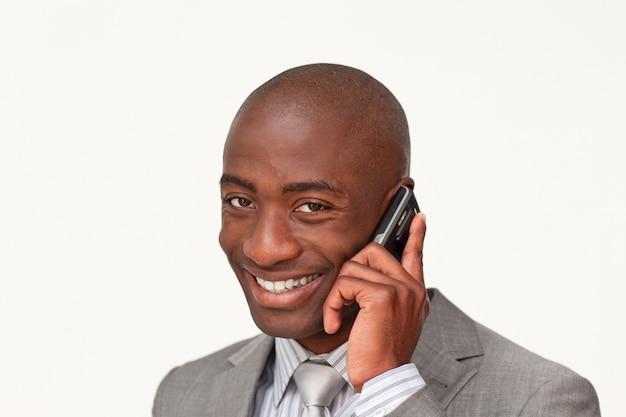 アフロアメリカ人のビジネスマンの肖像画