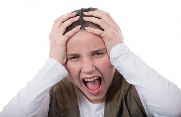 Портрет злой подросток