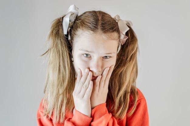 不幸な女の子の肖像