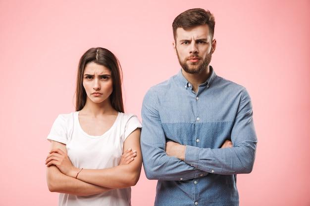 Портрет расстроенной молодой пары