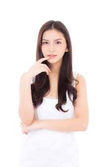 美しいアジアの女性の化粧の化粧の肖像