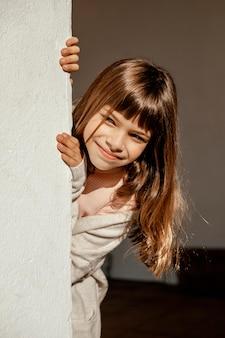 아름 다운 작은 소녀의 초상화