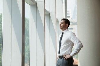 Portrait of Businessman at Window 3